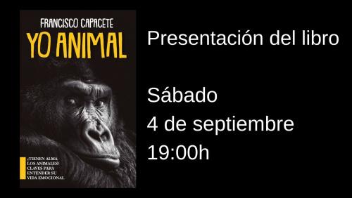 Presentación del libro YO, ANIMAL