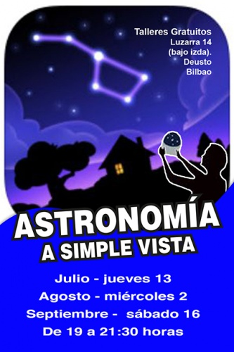 Taller gratuito de ASTRONOMÍA