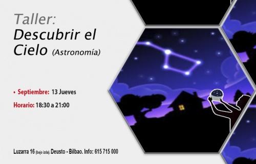 Taller Gratuito: Descubre el cielo. Astronomía