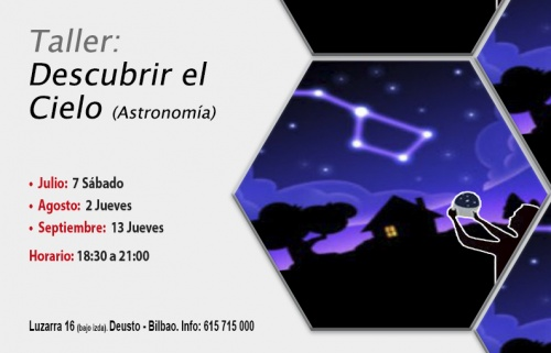 Taller gratuito: Descubre el cielo, Astronomía