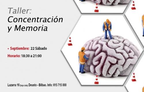 Taller gratuito: Concentración y memoria