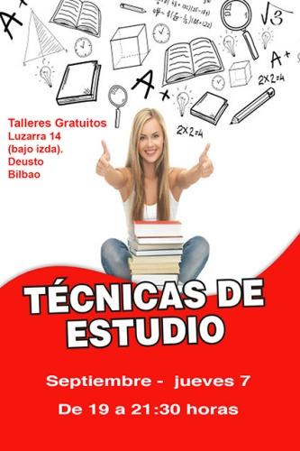 Taller gratuito de TÉCNICAS DE ESTUDIO